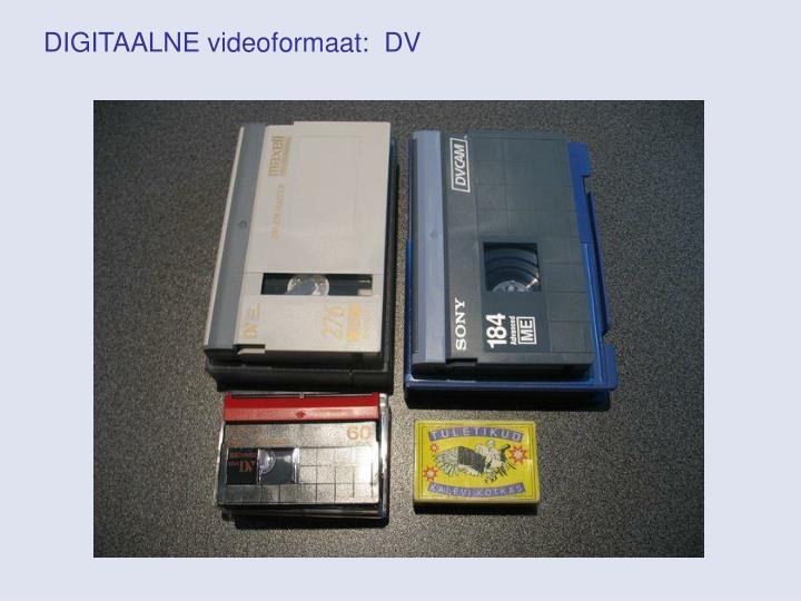 DIGITAALNE videoformaat:  DV