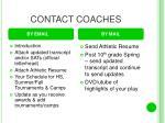 contact coaches