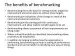 the benefits of benchmarking