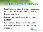 bidders conference elements