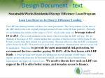 design document text