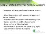 step 2 obtain internal agency support