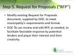 step 5 request for proposals rfp