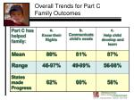 overall trends for part c family outcomes