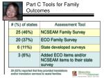 part c tools for family outcomes
