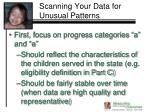 scanning your data for unusual patterns