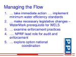 managing the flow