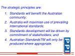 the strategic principles are