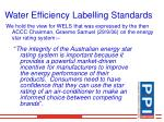 water efficiency labelling standards