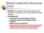 obesity leadership workgroup olw