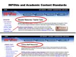 infohio and academic content standards