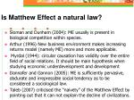 is matthew effect a natural law