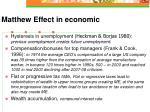 matthew effect in economic