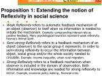 proposition 1 extending the notion of reflexivity in social science