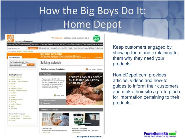 How the Big Boys Do It: