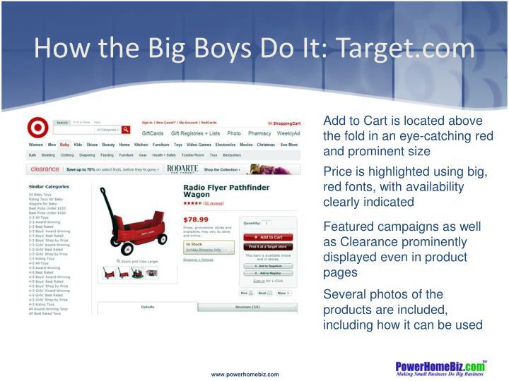 How the Big Boys Do It: Target.com
