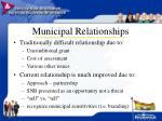 municipal relationships