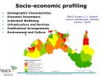 socio economic profiling