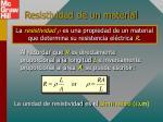 resistividad de un material