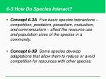 6 3 how do species interact