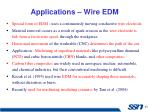 applications wire edm
