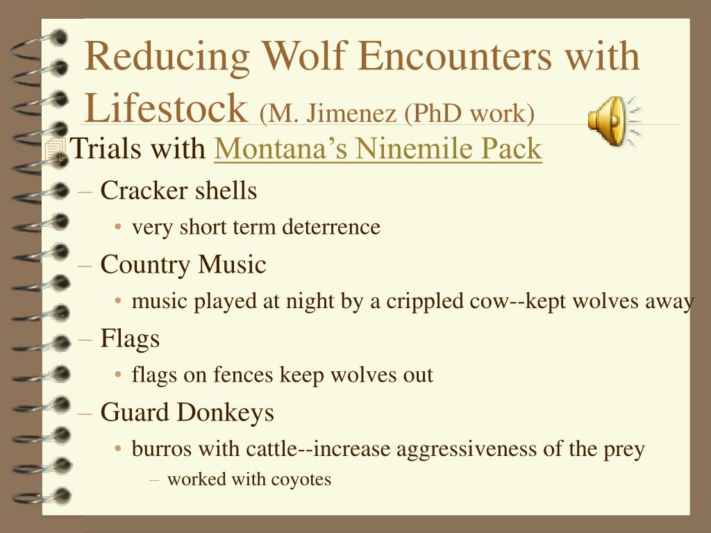 Reducing Wolf Encounters with Lifestock