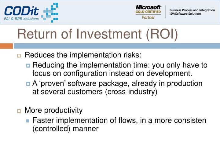 Return of Investment (ROI)