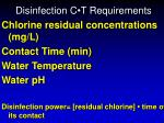 disinfection c t requirements