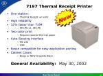 7197 thermal receipt printer