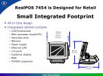 realpos 7454 is designed for retail