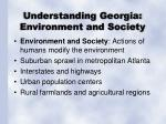 understanding georgia environment and society