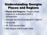 understanding georgia places and regions