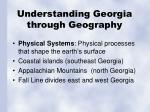 understanding georgia through geography