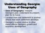 understanding georgia uses of geography