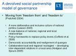 a devolved social partnership model of governance