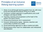principles of an inclusive lifelong learning system
