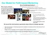 our model for faith based marketing