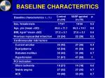 baseline characteritics