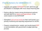 priority actions for 2009 2010 1