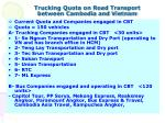 trucking quota on road transport between cambodia and vietnam