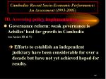 cambodia recent socio economic performance an assessment 1993 200522