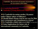 cambodia recent socio economic performance an assessment 1993 200525