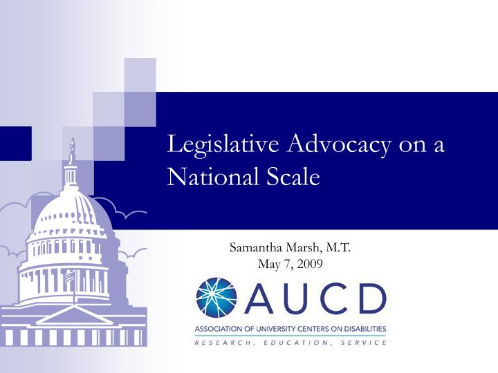 legislative advocacy on a national scale n.