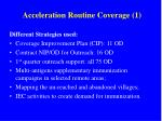 acceleration routine coverage 1