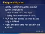 fatigue mitigation