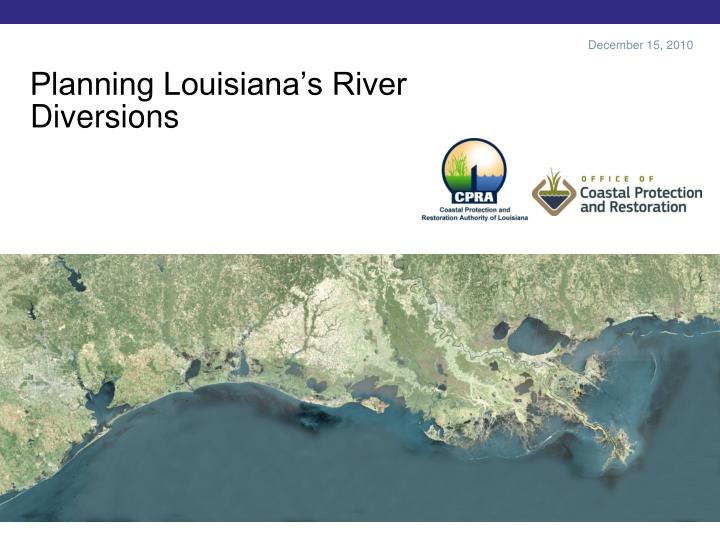 planning louisiana s river diversions n.