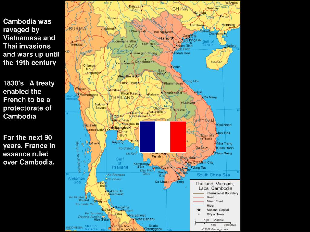 Cambodia was ravaged by Vietnamese and Thai invasions and wars up until the 19th century
