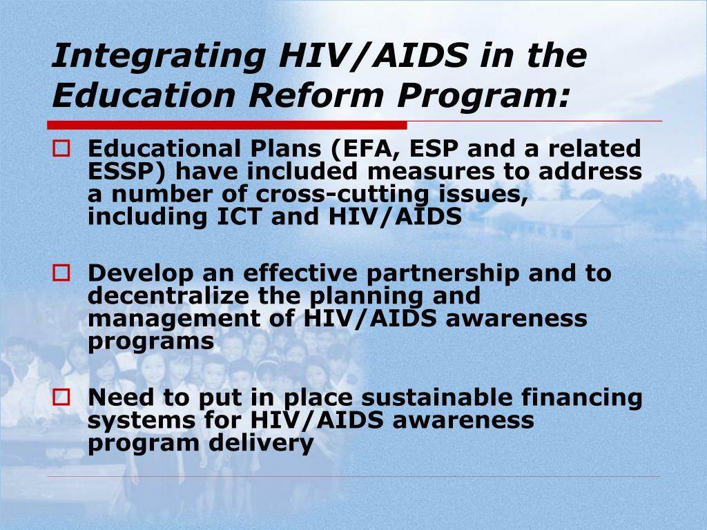 Integrating HIV/AIDS in the Education Reform Program: