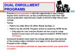 dual enrollment programs