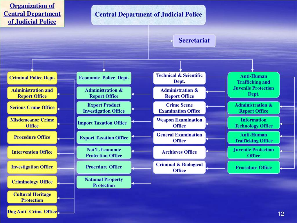 Organization of Central Department